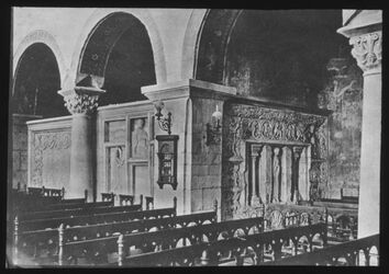 Glasplattendia Hl. Grab in Gernrode, Stiftskirche