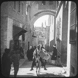 Glasplattendia Arch of Ecce Homo [Jerusalem]