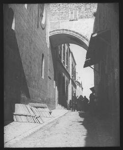 Glasplattendia Eccehomobogen v. W. [Jerusalem]
