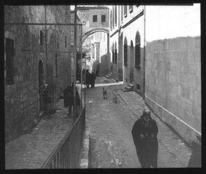 Glasplattendia Eccehomobogen von O [Jerusalem]