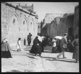 Glasplattendia Via Dolorosa, GP. III, Erster Fall [Jeusalem]