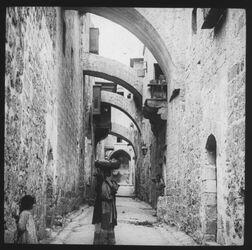 Glasplattendia Sixth Station of the cross [Jerusalem]