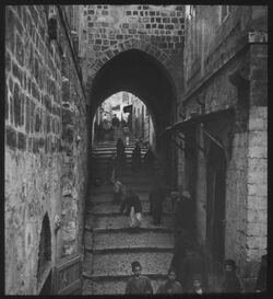 Glasplattendia Jerusalem Via Dolorosa