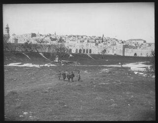 Glasplattendia Nordosteck des Haram v. S. [Jerusalem]