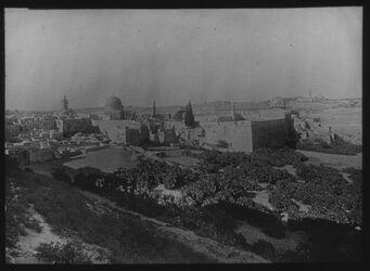 Glasplattendia Haram v. SW [Jerusalem]