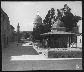 Glasplattendia Jerusalem, Tempelplatz
