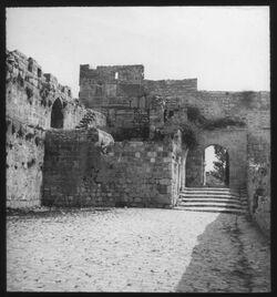 Glasplattendia NO-Ecke des Haram [Jerusalem]