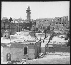 Glasplattendia Jerusal. Tempelplatz, Burg Antonia [Jerusalem]