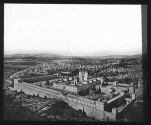 Glasplattendia Herod. Tempel nach O. Wolff [Jerusalem]