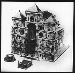 Glasplattendia Jerusalem, Tempel Salomos, Modell