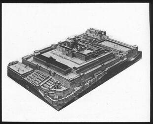 Glasplattendia Jerusalem, Tempelplatz zu Herodes Zeit, Modell