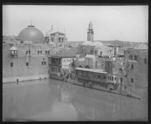 Glasplattendia Hiskiateich [Jerusalem]