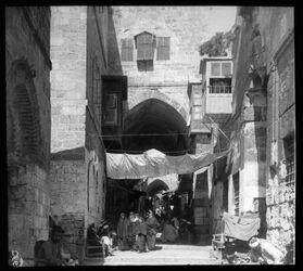Glasplattendia Strasse v. bab es-silsele v. O. [Jerusalem]