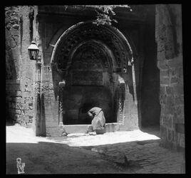Glasplattendia Brunnen an akbet ettekkije [Jerusalem]