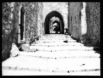 Glasplattendia Im türkenquartier, Jerus. [Jerusalem]