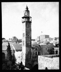 Glasplattendia Omarmoschee,Jerus. [Jerusalem]