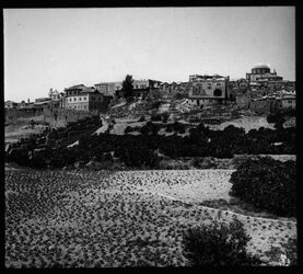 Glasplattendia Jerus. Getthoviertel a/ Mokrebiner Tor [Jerusalem]