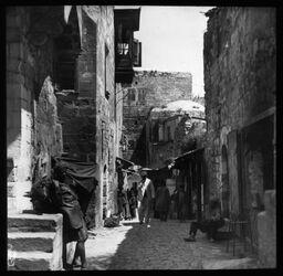Glasplattendia Judenviertel in Jerus. [Jerusalem]
