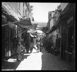 A XIX 14<br>Glasplattendia<br>Christenstr., Jerusalem, v. S.