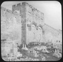 Glasplattendia Goldenes Tor [Jerusalem]