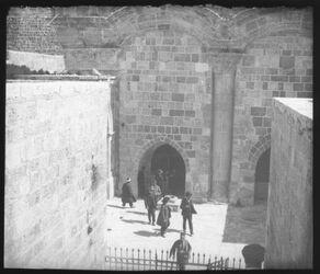 Glasplattendia Goldenes Tor von Westen. [Jerusalem]