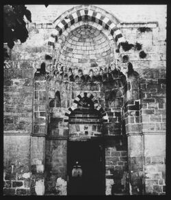 Glasplattendia Bab el-kattantin am haram [Jerusalem]
