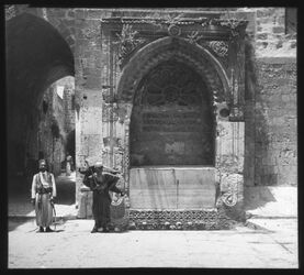 Glasplattendia Brunnen am Bab es-silsele [Jerusalem]