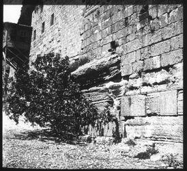 Glasplattendia Robinson Bogen [Jerusalem]