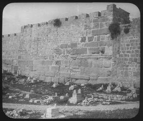 Glasplattendia Ostmauer des Haram [Jerusalem]