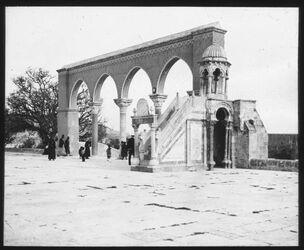Glasplattendia Sommerkanzel v. Burhaneddin [Jerusalem]