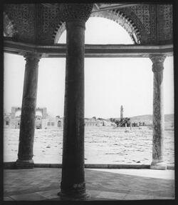 Glasplattendia vom Kettendom nach N. [Jerusalem]