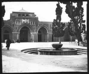 Glasplattendia Aksa-Moschee [Jerusalem]