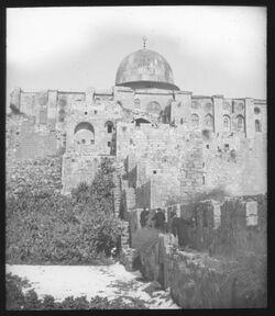 Glasplattendia Aksa-Moschee v. S. [Jerusalem]