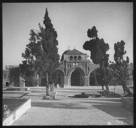Glasplattendia Aksa-Moschee v. N. [Jerusalem]