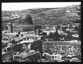 Glasplattendia Felsendom von SW [Jerusalem]