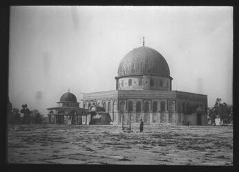 Glasplattendia Felsendom von Norden mit Kettendom [Jerusalem]
