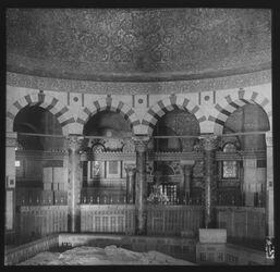 Glasplattendia Felsendom, Inneres v. S. [Jerusalem]
