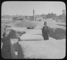 Glasplattendia Third Wall from West [Jerusalem]