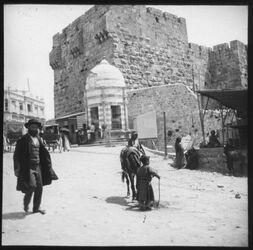 Glasplattendia Vor dem Jaffator [Jerusalem]