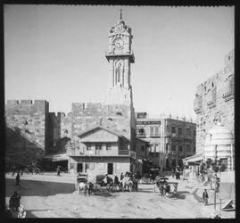 Glasplattendia Jaffator, v.W. [Jerusalem]