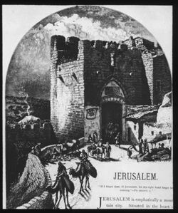 Glasplattendia Jaffator von innen. aus: ch. W. Wetson, Pictures of Palestine [Jerusalem]