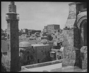 Glasplattendia Davidsbur v. Grabeskirche [Jerusalem]