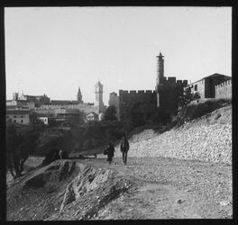 Glasplattendia Kastell u. Jaffator v. S [Jerusalem]