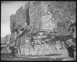 Glasplattendia Nordmauer und Hügelabschnitt 1912 Palmer
