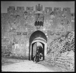 Glasplattendia Stephanstor, Jerusalem 1910 Eder