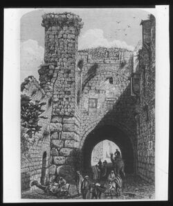 Glasplattendia Turm Anonia [Antonia, Jerusalem]
