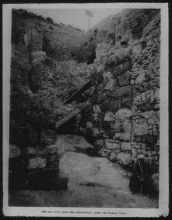 Glasplattendia Jerusalem, Toranlage in der kanaanäischen Mauer