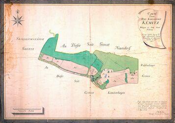 Carte über das Kirchdorf Kemitz; Müller, 1777, AFL/G26.05/0012