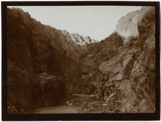 Fotografie w. [wadi] sle unterhalb der Klamm [Wadi sle]