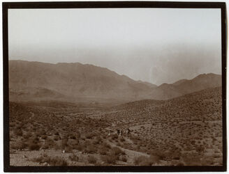 Fotografie Vom Übergang nach w. [wadi] rahabi Blick n. d. Talkessel [Wadi rahabi]